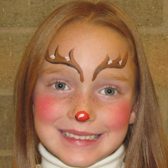 reindeer face painting - Google Search