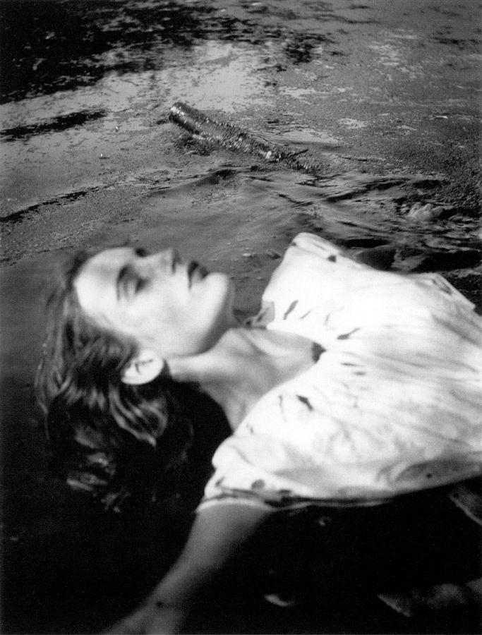 Virginia Woolf's niece, Angelica Bell, as Ophelia, Charleston, c. 1935.