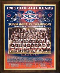 1985 Chicago Bears Super Bowl Champions