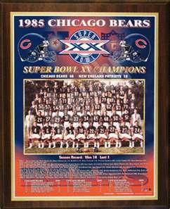 1985 Chicago Bears Super Bowl Champions