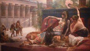 Cléopâtre testant des poisons sur des condamnés , Cabanel