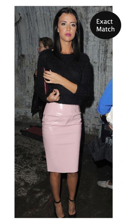 Kim Pink PVC Pencil Skirt | OMG Fashion #towie #fashion #lucy #midiskirt