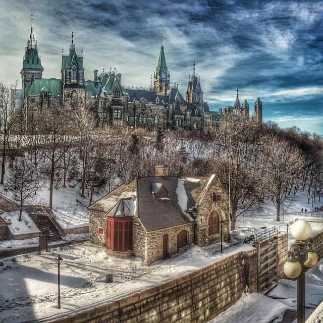Parliament Hill is so breathtakingly beautiful in the winter. For more information on Ottawa visit www.ottawatourism.ca