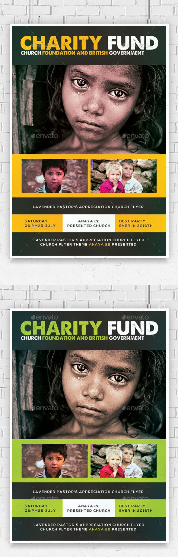 Charity Foundation Church Flyer Template