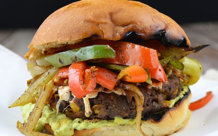 This recipe has all of the zesty, smoky flavor fajitas offer, in burger-form.