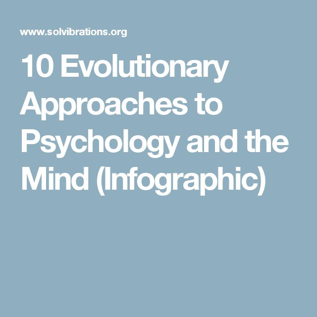 10 Evolutionary Approaches to Psychology and the Mind (Infographic)