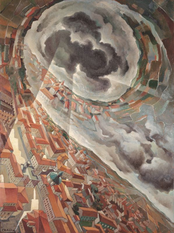 Tullio Crali. Horizontal Spin, 1938. Oil on plywood. Galleria d'Arte Moderna di Roma Capitale, Rome.