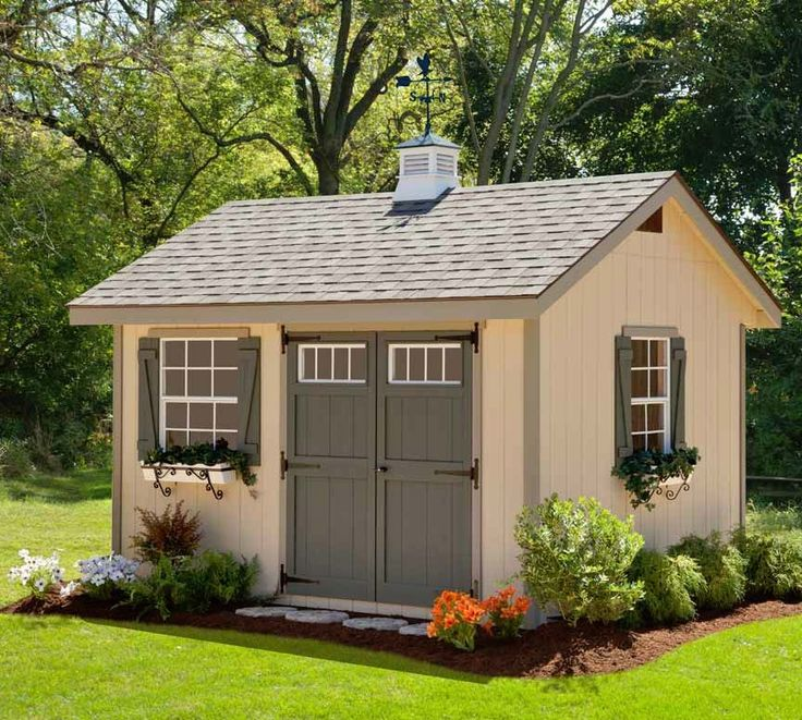 Amish ez fit heritage shed kit amish sheds for Small shed kits