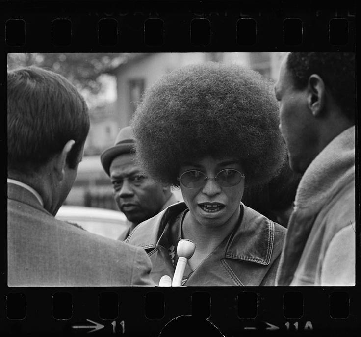 Angela Davis after Black Panther shootout  Los Angeles  Calif  Angela Davis Black Panther