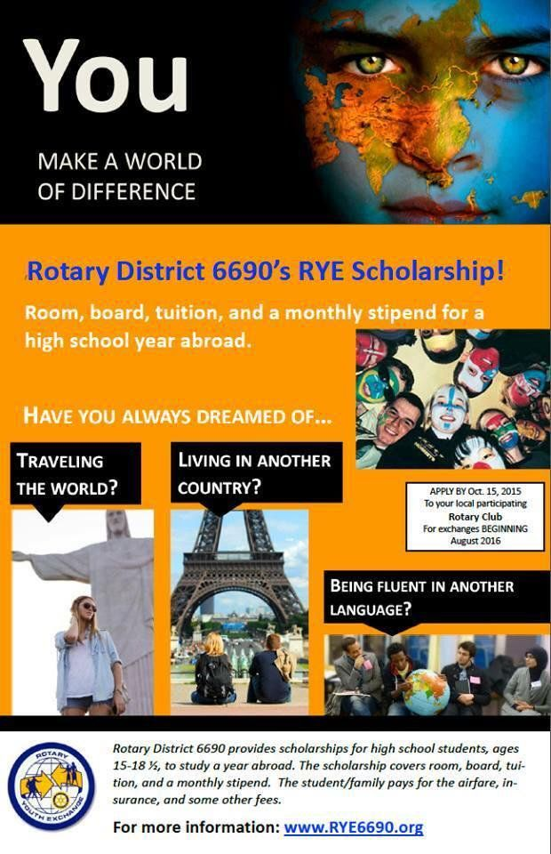 Youth Exchange 6690 Rye6690 Twitter High School Years Scholarships Countries Of The World