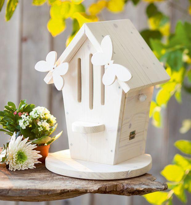 Great Dekorationen f r den Garten aus Holz Futterstelle aus Holz bauen Nistk sten aus Holz selber