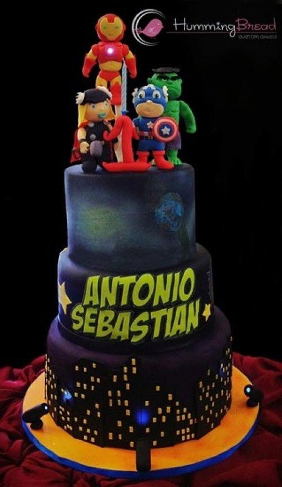 Bolo Baby Avengers Foi Criado Pela Confeitaria Humming Bread Para Um  cakepins.com