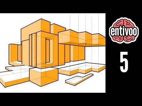Dibuja una composición de prismas rectangulares - YouTube