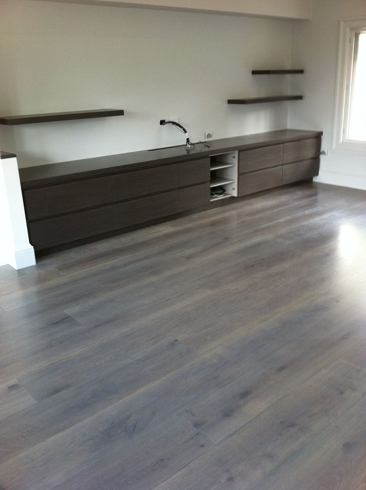 American White Oak   Solid Floor  Grey Stain