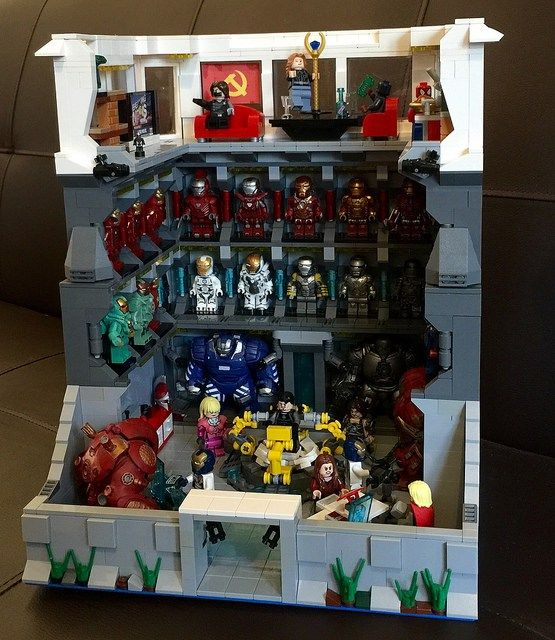 Amazing LEGO Iron Man lab shows all of Iron Man's suits
