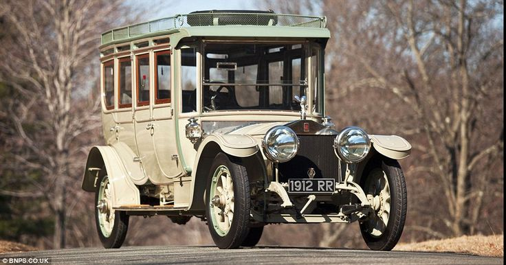 Unique: This 100-year-old Silver Ghost Rolls-Royce has sold for a world-record price of £5million after a furious budding war at Bonhams