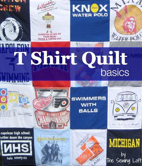 t shirt memory quilt instructions