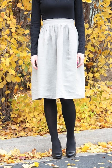 diy simple dress...but i'm mostly interested in her good instructions for creating the skirt