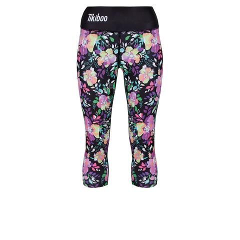 Tikiboo Neon Flower Capri #Activewear #Gymwear #FitnessLeggings #Leggings #Tikiboo #Running #Yoga