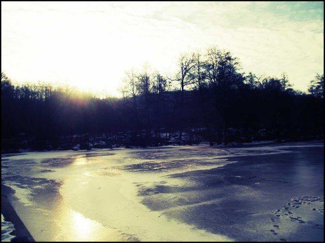 lac gelé - 7h du matin,plein hiver 2012