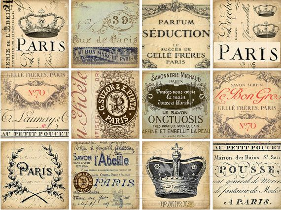 217 best tags y etiquetas images on pinterest tags printable instant download digital collage sheet paris vintage ephemera gift tags printable vintage labels french scripts stained negle Choice Image
