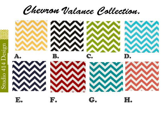 Chevron Valance. Chevron Window by Studio414Design on Etsy, $18.00