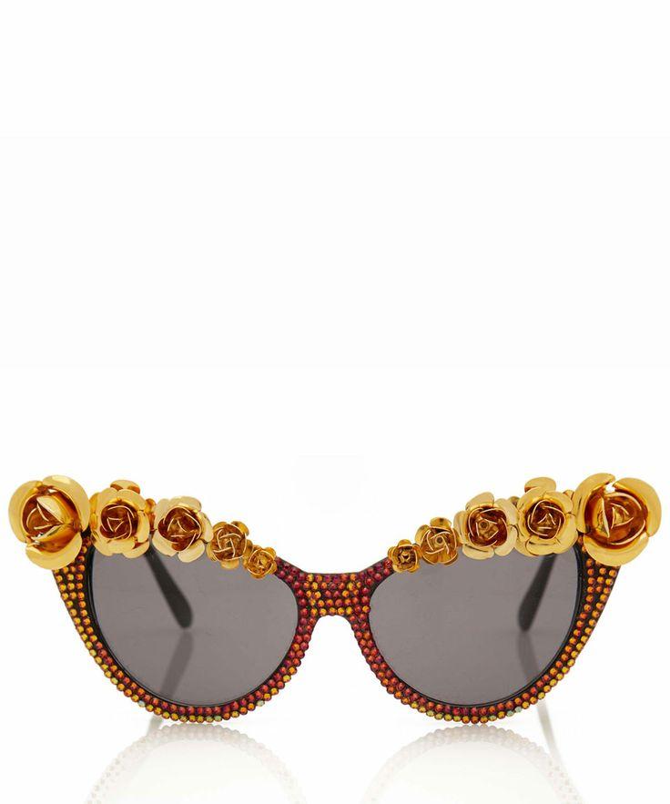 A-Morir Gold-Tone Pave Lana Sunglasses | Eyewear by A-Morir | Liberty.co.uk