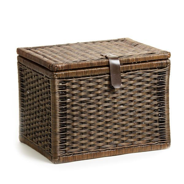Small Wicker Storage Trunk Basket Lady