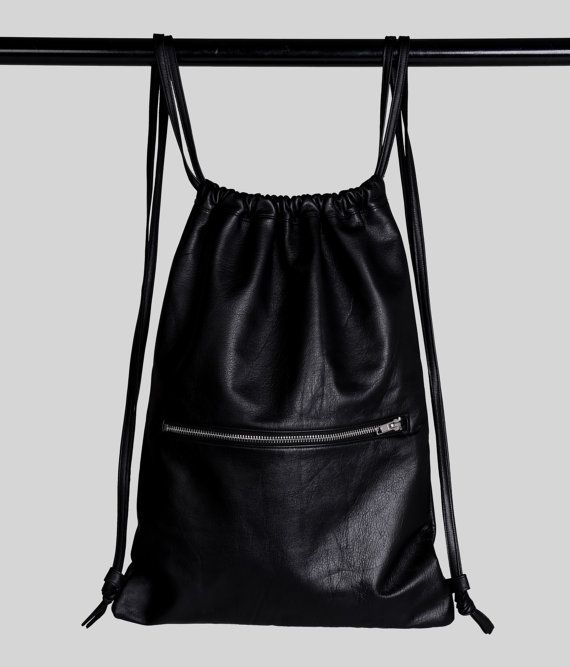 Hey, I found this really awesome Etsy listing at https://www.etsy.com/listing/196331285/simple-life-leather-drawstring-backpack