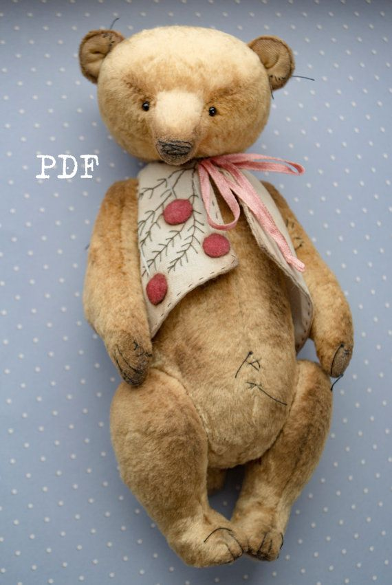 OOAK Artists Teddy Bear pattern teddy bear pattern от HelikaToys
