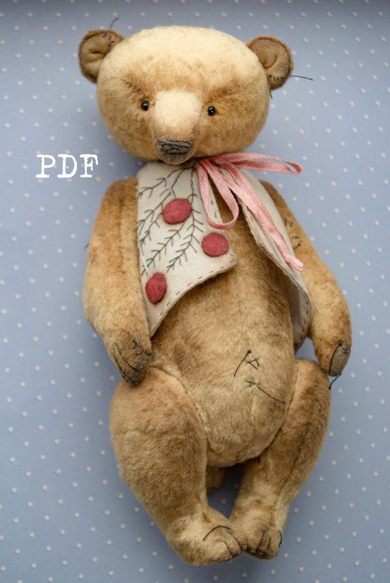 OOAK Artists Teddy Bear pattern teddy bear pattern от HelikaToys