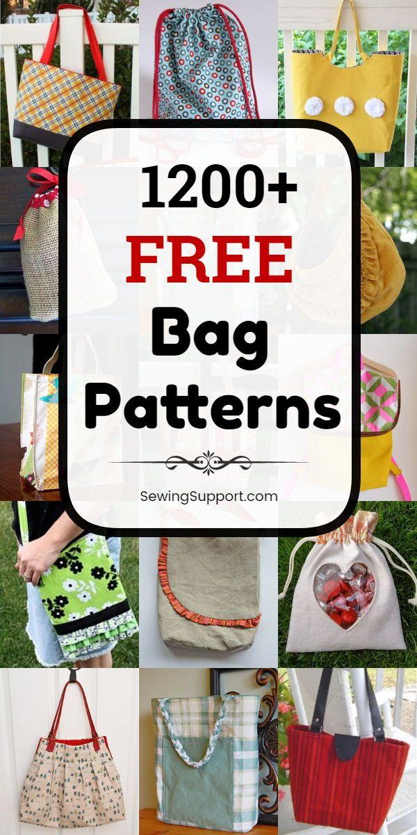 1200+ Free Bag Patterns to Sew
