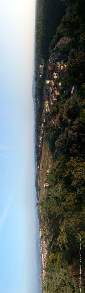 Il panorama che si scorge dala torre di Novi sulle dolcii colline novesi #novi #gavi #distrettodelnovese