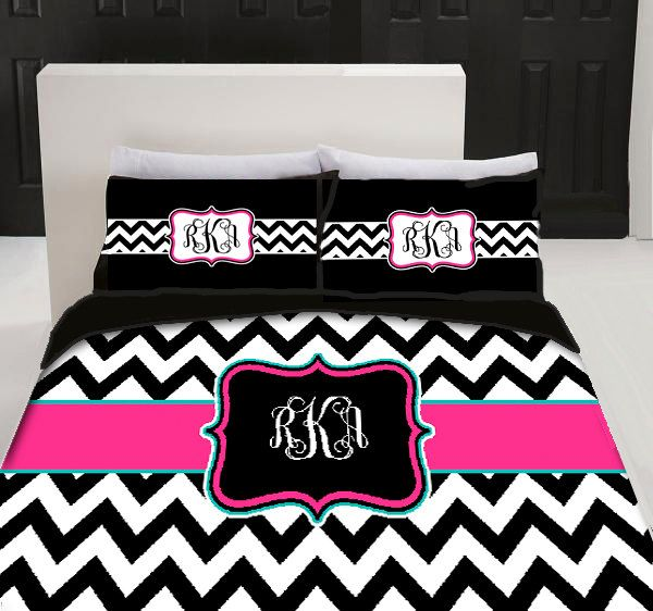 chevron linens | Custom Personalized Chevron Bedding Set - Queen size - your colors ...