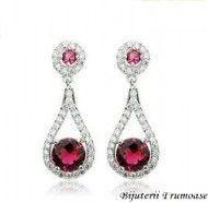 Cercei sultana cu cristale rosii zirconia http://www.bijuteriifrumoase.ro/cumpara/cercei-sultana-cu-cristale-rosii-zirconia-744