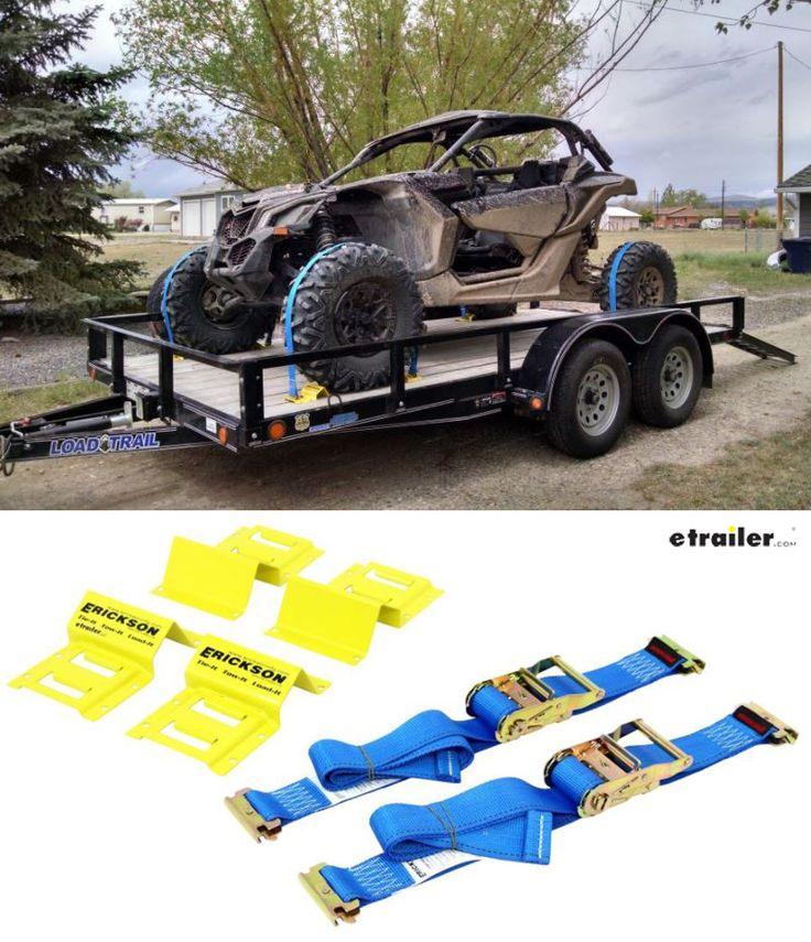 Camper Wheel Chocks >> Erickson ATV E-Track Tie-Down Kit w/ Ratchet Straps and Wheel Chocks - 1,500 lbs Erickson ATV ...