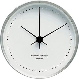 Georg Jensen Henning Koppel Clock 10cm Steel/White $120