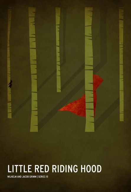 Minimalist Fairy Tale Posters: Little Red Riding Hood by Christian Jackson