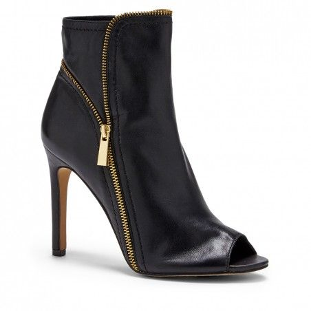 Black Leather 4 Inch Leather Heel | Klayton by Vince Camuto