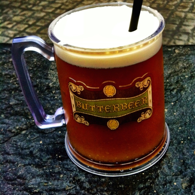 Butter beer at the Harry Potter Amusement Park in Orlando, FL.  Definitely a must do!