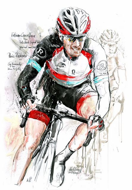 Fabian Cancellara, Team RadioShack-Leopard Trek, gewinnt Paris-Roubaix 2013, 100x70cm | Flickr - Photo Sharing!