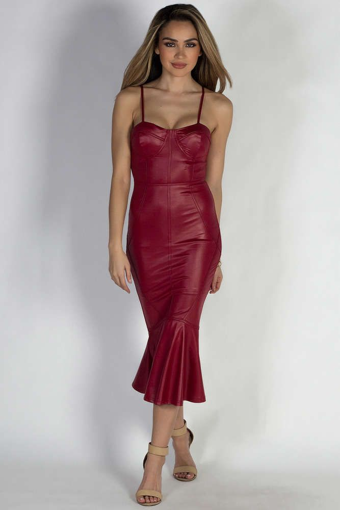 Leather Evening Dress