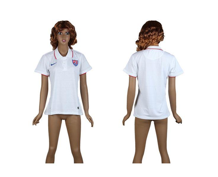 USA Maglie Calcio Mondiali 2014 Donna Casa