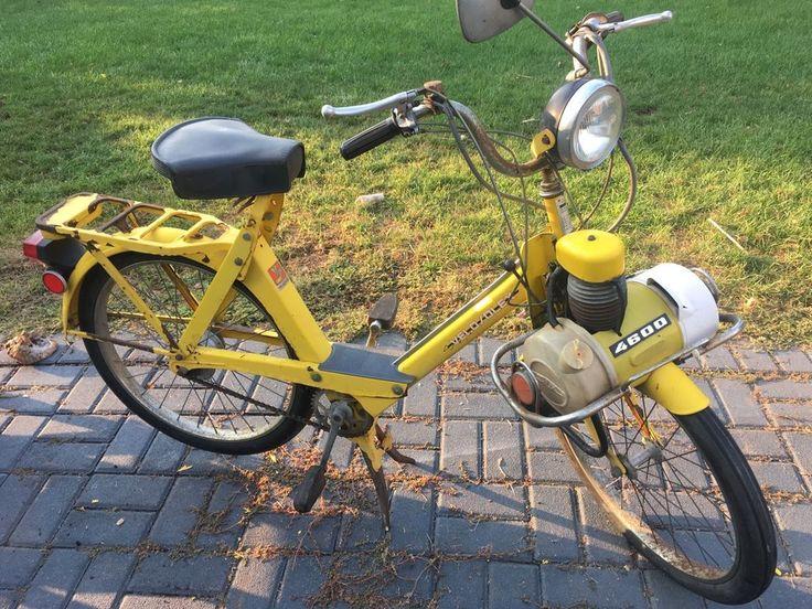 Vintage Yellow 1977 Velosolex by Semi 4600 Moped Motorized Bike Parts or Repair | eBay