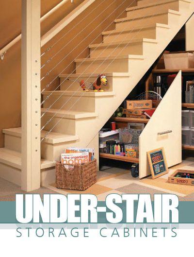 Workbench under stair storage cabinets plans under stair storage pinterest cable - Cabinet design under stairs ...