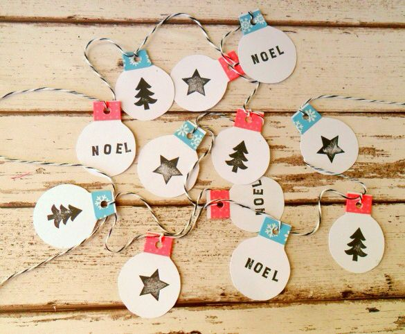 Bibelot: Learn how to make a Christmas bauble garland with Little Tea Wagon
