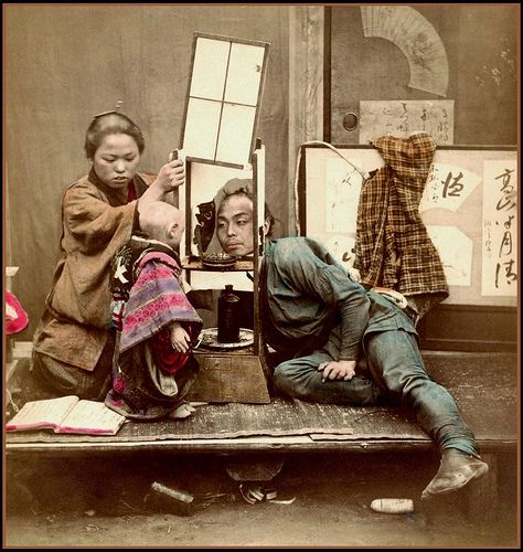 PLAYING PEEK-A-BOO in OLD JAPAN by Okinawa Soba, via Flickr  Funny enough...that child is actually a doll...