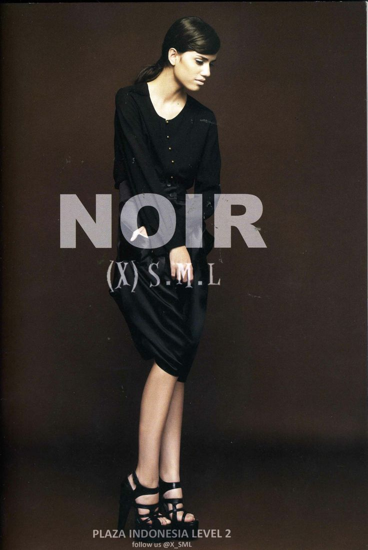 NOIR (X)S.M.L ads is appeared on Elle Indonesia - February 2013