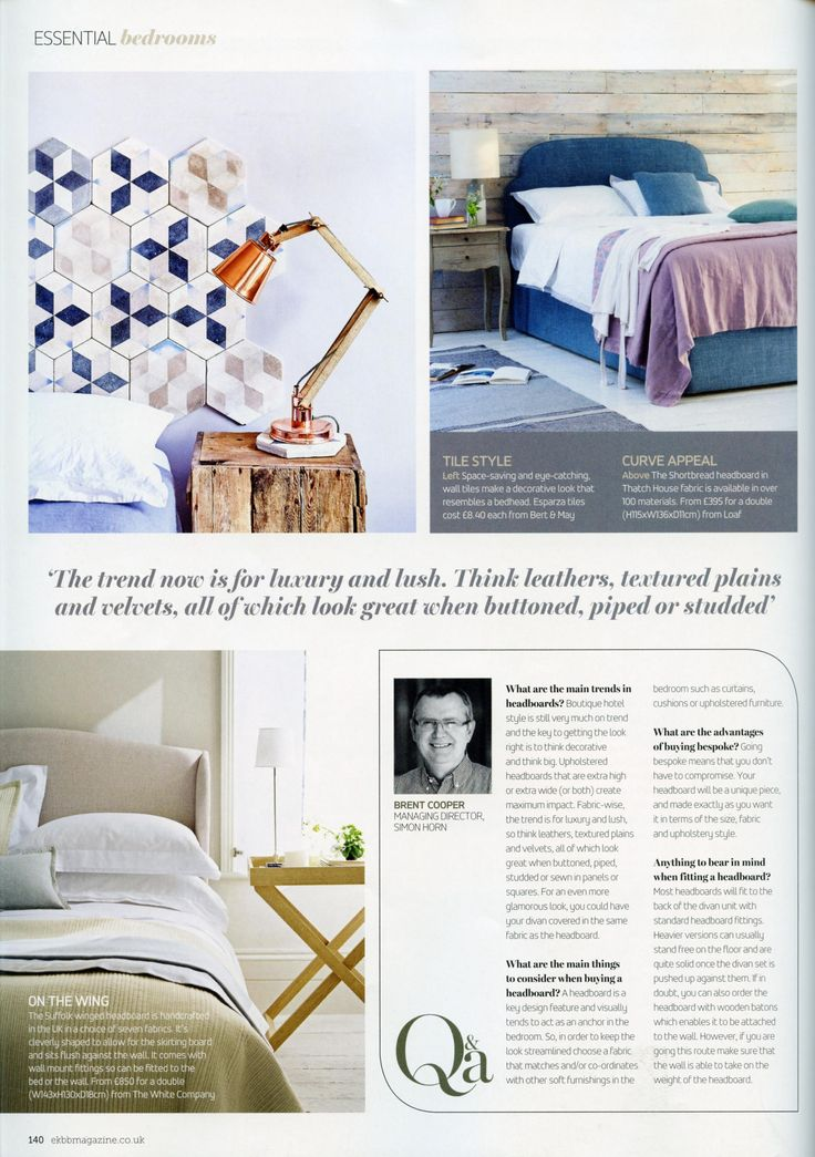 A Q&A with Brent Cooper, managing director of Simon Horn http://simonhorn.com/ Essential Kitchen Bathroom Bedroom March 2016