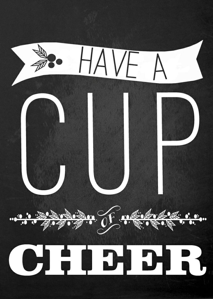 Ruffled Sunshine: Have a cup of cheer.